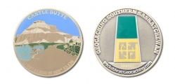 South Saskatchewan Geocoin f&b