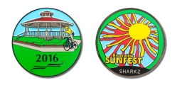 Riverview SUNFEST 2016 geocoin f&b