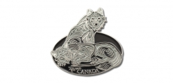 Canada Wolves Pin
